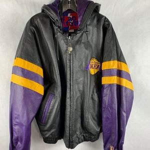 Rare Vintage Lakers Pro Player Leather Jacket